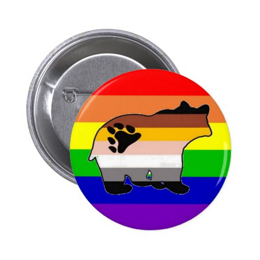Orgullo del oso del arco iris pin redondo 5 cm