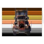 Orgullo del oso del camionero tarjeta