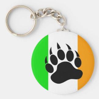 Orgullo del oso del irlandés llavero redondo tipo pin