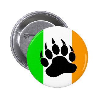Orgullo del oso del irlandés pin redondo de 2 pulgadas