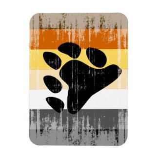 Orgullo del oso del vintage rectangle magnet