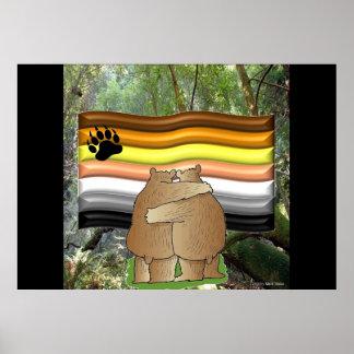 Orgullo del oso en el poster de maderas