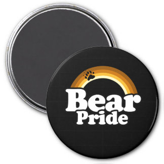 Orgullo del oso imán redondo 7 cm