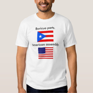 Orgullo del puertorriqueño de las señoras remera