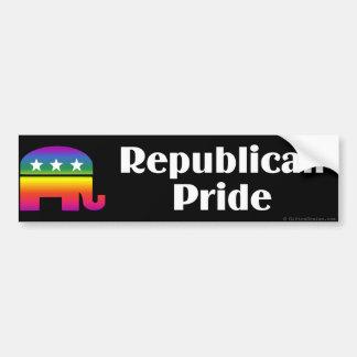 Orgullo del republicano de GLBT Etiqueta De Parachoque