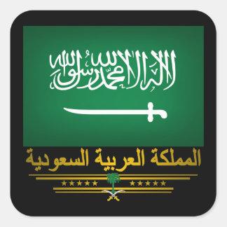 """Orgullo del saudí "" Calcomania Cuadradas Personalizadas"