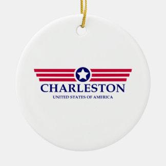 Orgullo del SC de Charleston Adorno Redondo De Cerámica