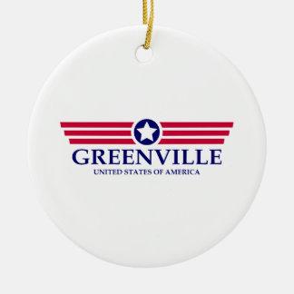 Orgullo del SC de Greenville Adorno Redondo De Cerámica