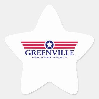 Orgullo del SC de Greenville Pegatina En Forma De Estrella