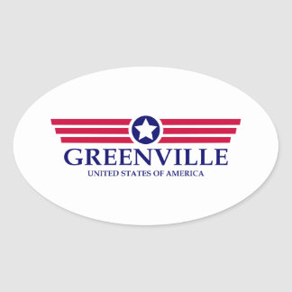 Orgullo del SC de Greenville Pegatina Ovalada
