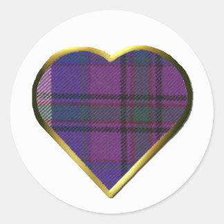 Orgullo del sello del sobre del corazón de Escocia Etiquetas Redondas