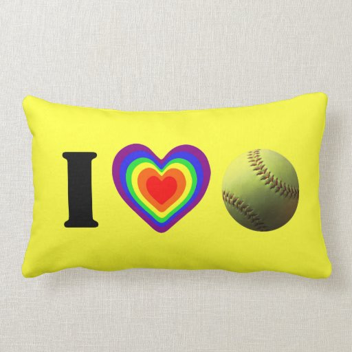Orgullo del softball cojin