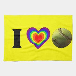 Orgullo del softball toallas