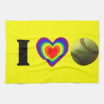 Orgullo del softball toallas de cocina