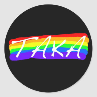 ¡orgullo del taka! pegatina redonda