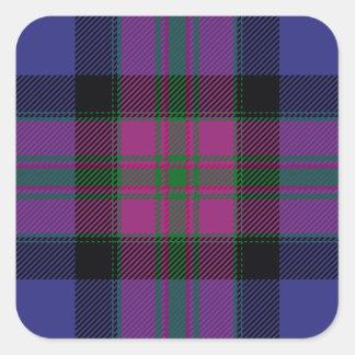 Orgullo del tartán de la moda de Escocia Calcomanía Cuadradas Personalizada