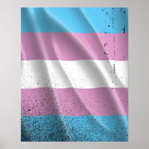 Orgullo del transexual que agita poster