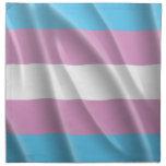 Orgullo del transexual que agita servilleta imprimida