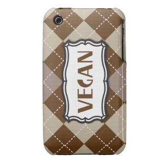 Orgullo del vegano de Brown Argyle iPhone 3 Case-Mate Cárcasa
