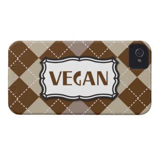 Orgullo del vegano de Brown Argyle iPhone 4 Case-Mate Carcasa