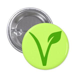 orgullo del veggie, vegano, vegetariano, pin redondo 2,5 cm