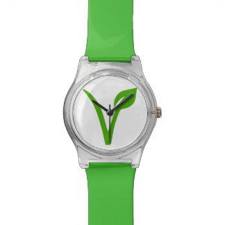 orgullo del veggie, vegano, vegetariano reloj de mano