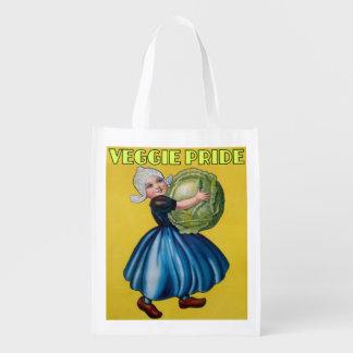 orgullo del veggie, vegetarianos, eco, reciclable, bolsa para la compra