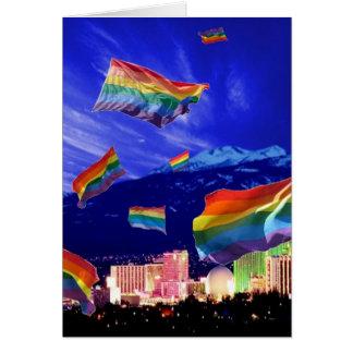 Orgullo del vuelo de Reno Tarjeta De Felicitación
