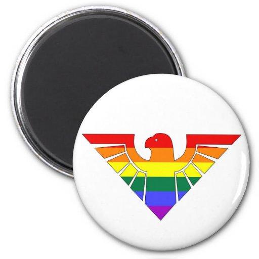 Orgullo Eagle de GLBT Imán De Frigorifico