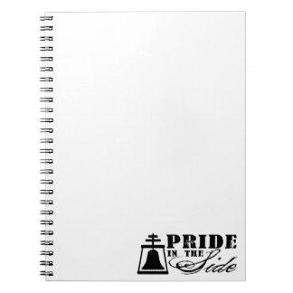 Orgullo en el lado libro de apuntes