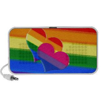 Orgullo estupendo del BI del arco iris del orgullo Mp3 Altavoz