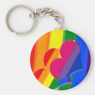 Orgullo estupendo del BI del arco iris del orgullo Llavero Redondo Tipo Pin