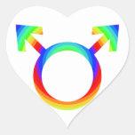 orgullo gay 2become1 pegatina corazón personalizadas