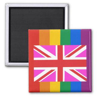 Orgullo gay BRITÁNICO Imán Cuadrado