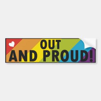 Orgullo gay pegatina de parachoque