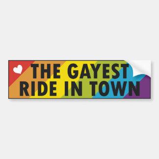 Orgullo gay etiqueta de parachoque