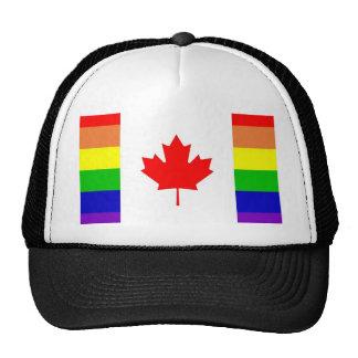 Orgullo gay canadiense gorro de camionero