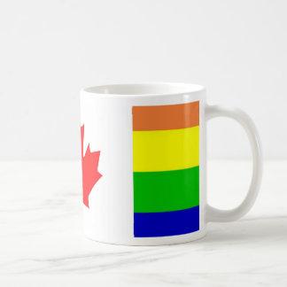 Orgullo gay canadiense taza