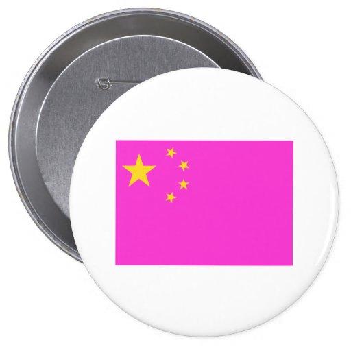 Orgullo gay chino pin redondo 10 cm