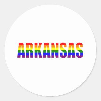Orgullo gay de Arkansas Pegatina Redonda