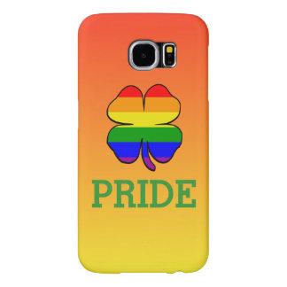 Orgullo gay de la bandera del arco iris del trébol fundas samsung galaxy s6