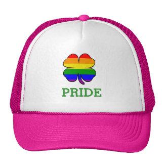 Orgullo gay de la bandera del arco iris del trébol gorros bordados