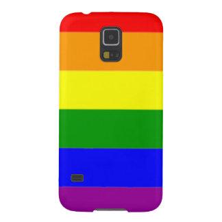 Orgullo gay de la bandera vibrante del arco iris funda para galaxy s5