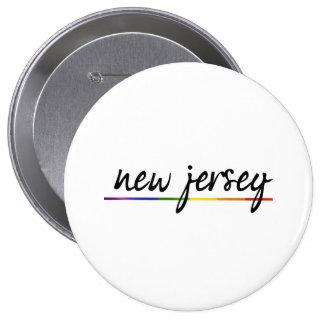 ORGULLO GAY DE NEW JERSEY - .PNG PIN REDONDO 10 CM