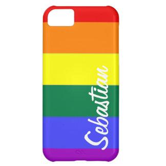 Orgullo gay del arco iris personalizado funda para iPhone 5C