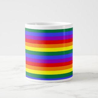 Orgullo gay del arco iris tazas extra grande