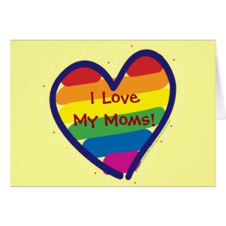 Orgullo gay del día de madre tarjeton