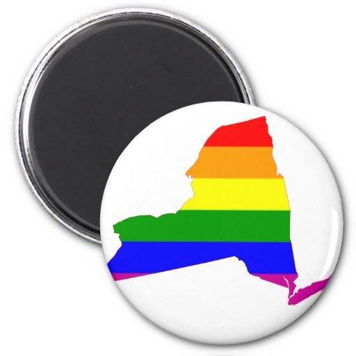 Orgullo gay del Estado de Nuevo York Imán Redondo 5 Cm