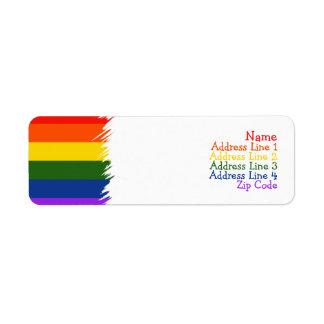 Orgullo gay etiquetas de remite