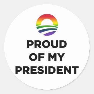 Orgullo gay etiqueta redonda
